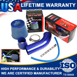 Air Flow Intake Kit Pipe Diameter 3Inch +Cold Air Intake Filter+ Clamp+Accessory