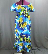 New listing Vtg Hukilau Fashions Women's Hawaiian Muumuu Maxi Caftan Dress sz 12 Pineapples