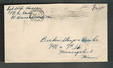 1945 Ft Leonard Wood MO USA POW prisoner War Camp Cover Soldier Mail L Hanson