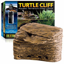 Exo Terra Turtle Cliff Aquatic Large Filter System & Basking Rock Terrarium Tank