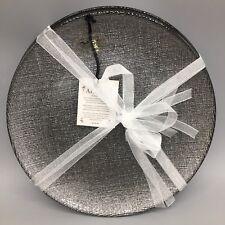 x4 Akcam Turkish Glass Holiday Silver Graphite Sparkle Glitter Dessert Plate Set & Glass Round Holiday Dinnerware Plates | eBay
