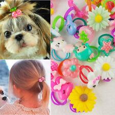 5 pcs Cute Fruit Flowers Cartoon Pet Dog / Baby Girl Kids Mini Hair Rubber Bands