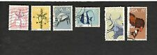 1973 RSA South Africa SC #422-23 #430-33 FLOWERS FISH BIRDS used stamps