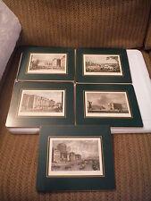 Antique Set of 5 W. H. Bartlett, Geo. Petri Esq. Dublin & College St Prints