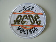 AC/DC PATCH High Voltage Iron On Highway To Hell Powerage Bon Scott Badge NEW