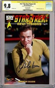 Star Trek: New Visions #22 photo cover_CGC 9.8 SS_Signed by William Shatner