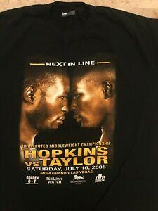 "Bernard Hopkins vs. Jermain Taylor, ""Next in Line"" 2005, T-Shirt 2XL"