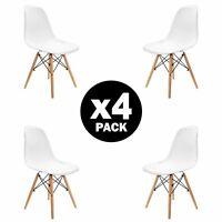 Pack 4 sillas de comedor Blanca silla diseño nórdico retro estilo
