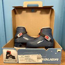 Bauer Lil' Champ Ice Skates Toddler Size 10/11 Boys Blue