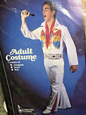 ELVIS PRESLEY HALLOWEEN COSTUME Jumpsuit Scarf VINTAGE Adult Medium COLLEGEVILLE