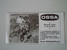 advertising Pubblicità 1973 OSSA MAR TRIAL e GIOVANNI TOSCO