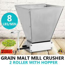 GRAIN MILL HOME BREW MILL BARLEY GRINDER GRAIN MILL ADJUSTABLE MALT MILL UPDATED