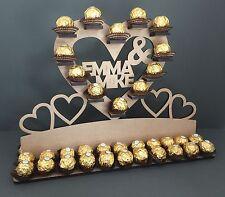 Y18 56 x Chocolate Personalised Ferrero Rocher Heart Tree Wedding Display Stand