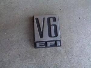 1990 PYMOUTH VOYAGER FENDER V6 EFI EMBLEM DECAL BADGE DRIVER/ PASSENGER SIDE OEM