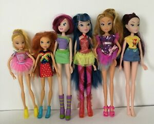 Winx Club Rainbow Fairy Doll Tecna Musa Flora Roxy Witty Toys Mixed Lot 6 Dolls