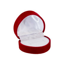 Red Velour Jewellery Ring Gift Box Heart Shaped 50x45x37mm Pack of 1 (R35)