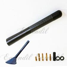 """New 5"""" Black Universal Aluminum Carbon Fiber Short Radio #Pt15 Antenna Screw Car"""