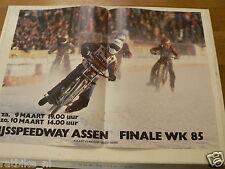 A208-IJSSPEEDWAY ASSEN WK 1985 FINALE ICE SPEEDWAY MOTO POSTER 9/10-3