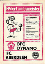 EC I 84/85 BFC Dynamo - FC Aberdeen, 03.10.1984