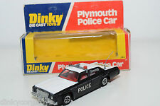 DINKY TOYS 244 PLYMOUTH POLICE CAR MINT BOXED