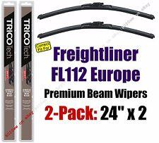 Wiper Blades 2-Pack Premium - fit 1996-1998 Freightliner FL112 Europe - 19240x2