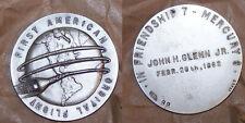 1970's Italy Vintage NASA First American Orbital Flight/Glenn Medal