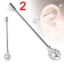 1x Industrial Bar Scaffold Ear Barbell Ring Various Styles Ear Piercing Jewelry 1
