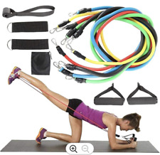Set of 11 PCS of Resistance Bands Yoga Exercise Fitness Tube Workout