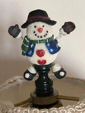 Snowman Finial Resin New