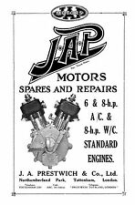 (0672) J.A.P. 6 & 8hp air cooled & 8hp water cooled engines parts book