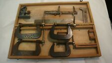 LOT OF CINCINNATI TOOL CO CLAMPS PLUS XTRAS 4 CLAMPS 4 OTHER TOOLS USED WOOD BOX