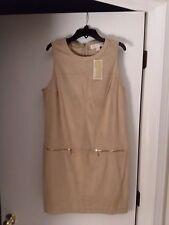 Michael Kors Beige Khaki  Sleeveless Dress Size 8