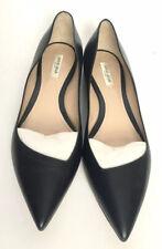 Giorgio Armani Women Shoes Size 39.5 NIB Blue Leather Ballerina Flats