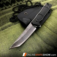 Sweet KISS Tanto Fixed Blade Tactical Slim Neck Knife Sheath BLACK Combat 2356