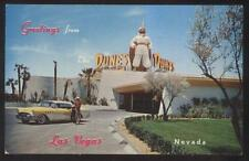 Postcard LAS VEGAS Nevada/NV  The Dunes Casino Giant Arab Sign view 1950's
