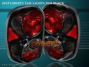 2002-2007 JEEP LIBERTY ALTEZZA TAIL LIGHTS BLACK 2003