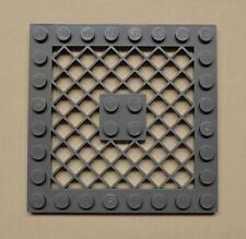 NEW Lego Gray Plate Modified 8 x 8 w/ Grille PERFECT For FLOORS DARK BLUISH GRAY