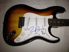 JOHNNY DEPP TIM BURTON SIGNED GUITAR DARK SHADOWS Edward Scissorhands  PROOF