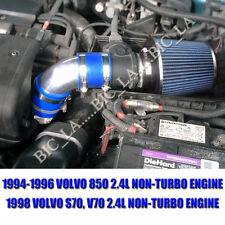 BLUE 1994-1996 1998 VOLVO 850 S70 V70 2.4 2.4L NON-TURBO AIR INTAKE KIT SYSTEMS