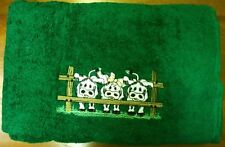 New Embroidered Bath Towel, Cows at Fence, Simba Australian Made, 100% Cotton
