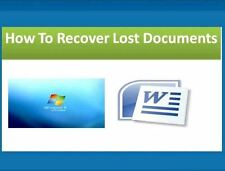 Recover Restore Undelete Files Documents Software on 16 GB USB Memory Stick