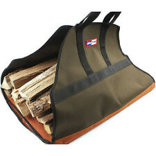 Firewood Carrier Bag Log Fire Wood Tote Canvas Carrying Bag Holder Rack Carry