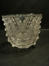 "BEAUTIFUL LALIQUE CRYSTAL ""VICHY""  ART GLASS VASE, #10-909"