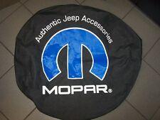 OEM new Jeep Wrangler JK spare tire cover black denim blue , white Mopar logo