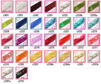 "(Z) 1.5"" /40mm wide Shiny Flat Square Sequin Lace Edge Belt Trim Ribbon Yardage"