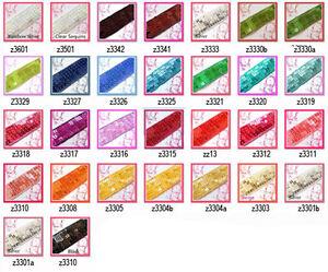 "(Z) 1.5"" /40mm wide Shiny Flat Square Sequin Lace Edge Belt Trim Ribbon Yardage"