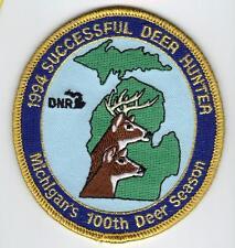 1994 MICHIGAN DNR SUCCESSFUL DEER HUNTER PATCH -BEAR-TURKEY-ELK-MOOSE-FISHING
