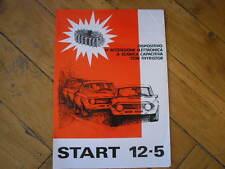 BROCHURE ORIGINALE 1970 START 12-5 DISPOSITIVO ACCENSIONE ELETTRONICA