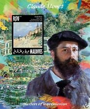 Maldives 2014 Claude Monet French Painter Paintings France S/S MLD14205