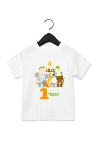 Zoo Themed Personalised 1st Birthday T Shirt - cake smash party